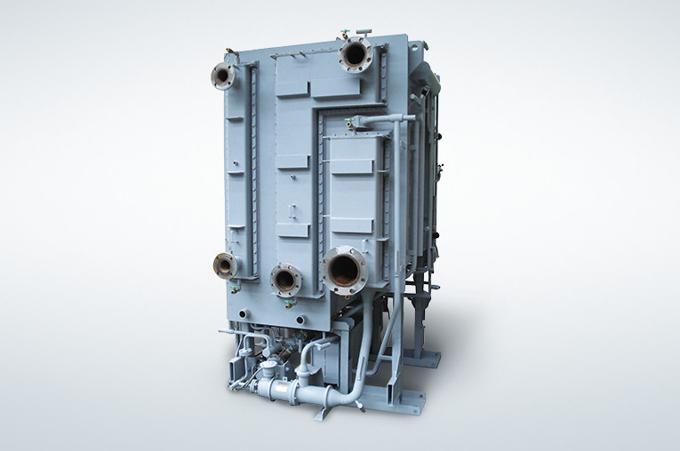 Single-effect hot water absorption chiller