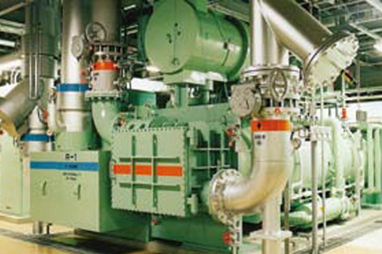タンデム型ターボ冷凍機
