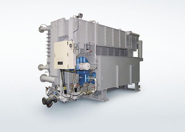 高効率小型吸収冷温水機