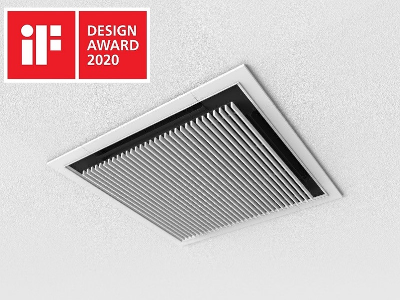 "Design panel for 4-way cassette indoor unit ""Silent-Iconic"" awarded iF DESIGN AWARD 2020"