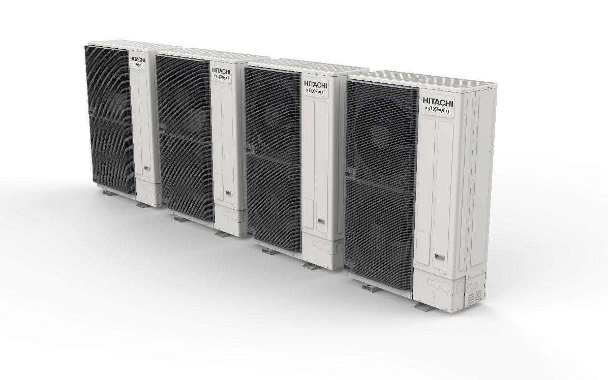 国内業界初、連結可能なビル用マルチエアコン横吹き室外ユニットを開発  ー 1系統で大容量54馬力、上吹きタイプと同等性能実現
